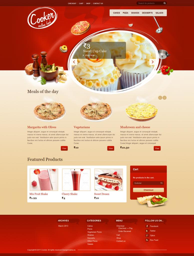 Cooker: Online Restaurant, Food Store