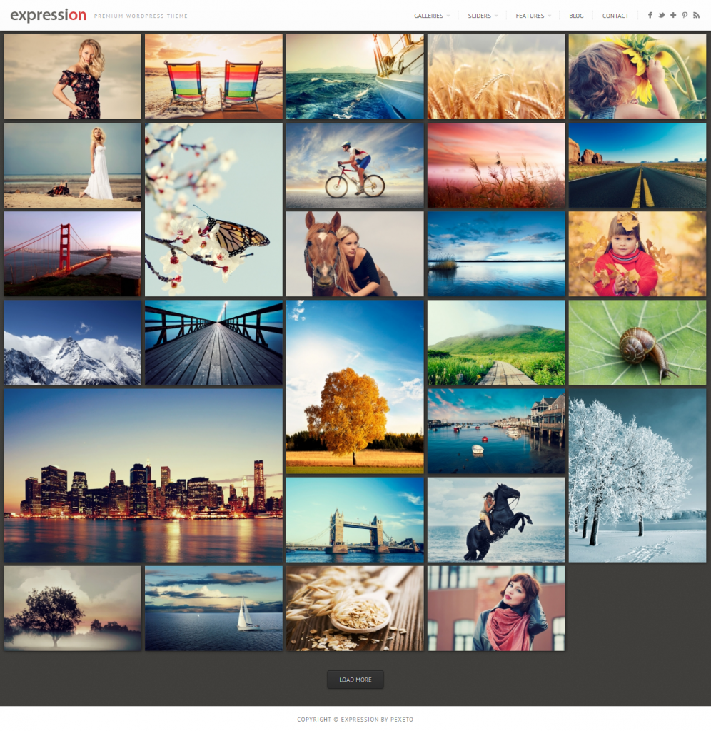 Expression: Photography Responsive WordPress Theme