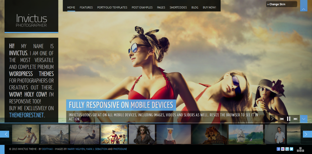 Invictus: A Premium Photographer Portfolio Theme