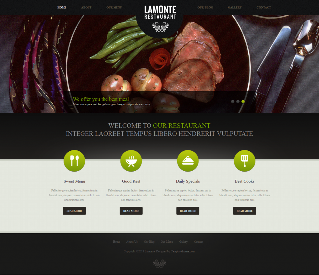 LaMonte: Modern Restaurant WordPress Theme