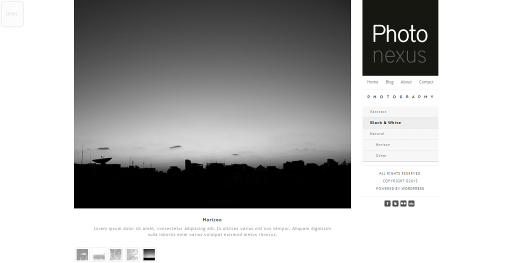Photo Nexus: WordPress gallery 2 in 1
