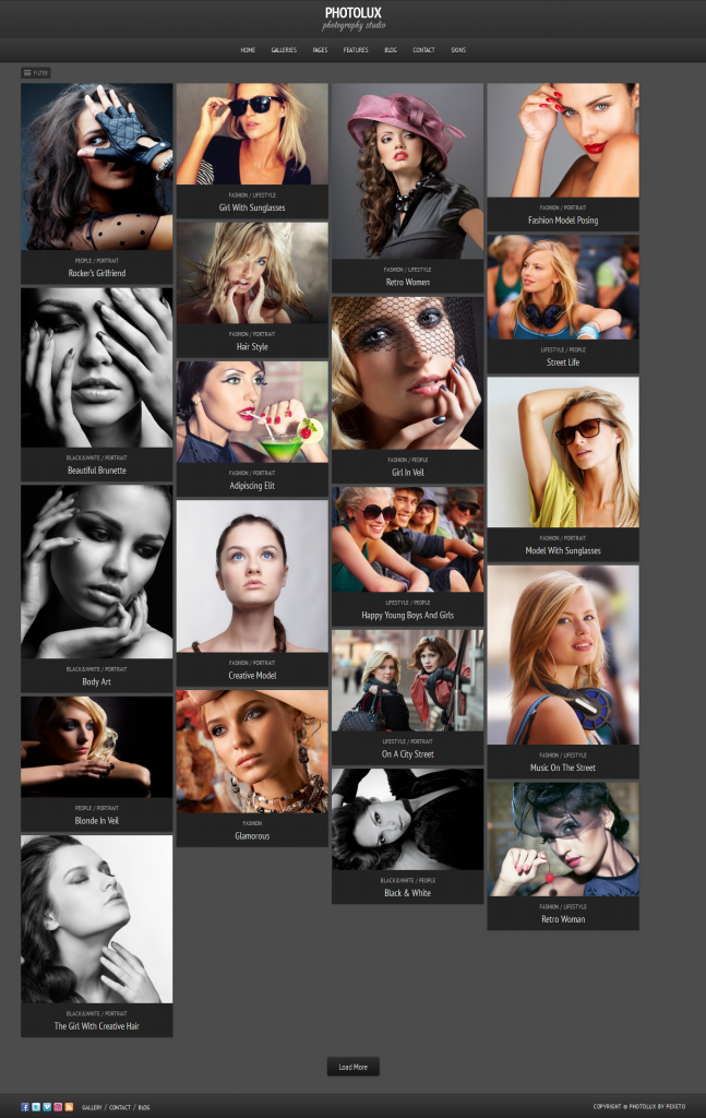 Photolux: Photography WordPress Theme