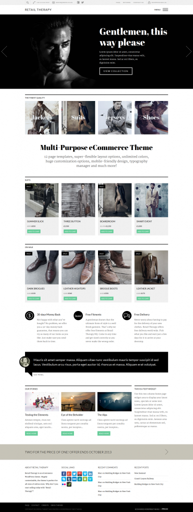 Retail Therapy: Multi-Purpose eCommerce Theme