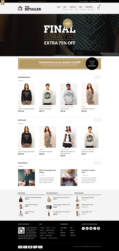 The Retailer: Retina Responsive WooCommerce Theme