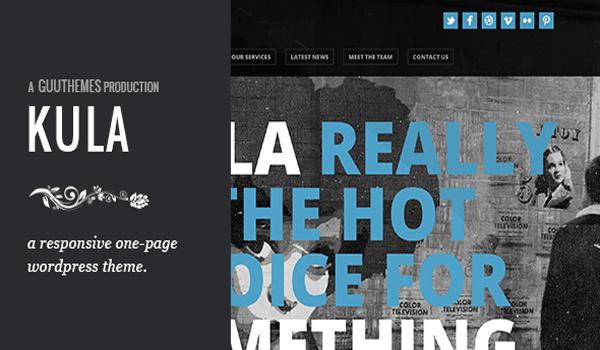 kula - responsive single page wordpress theme