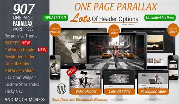 907 - One Page WordPress Theme Parallax Responsive
