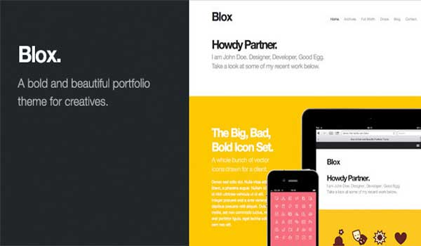 Blox: Bold WordPress Portfolio Theme