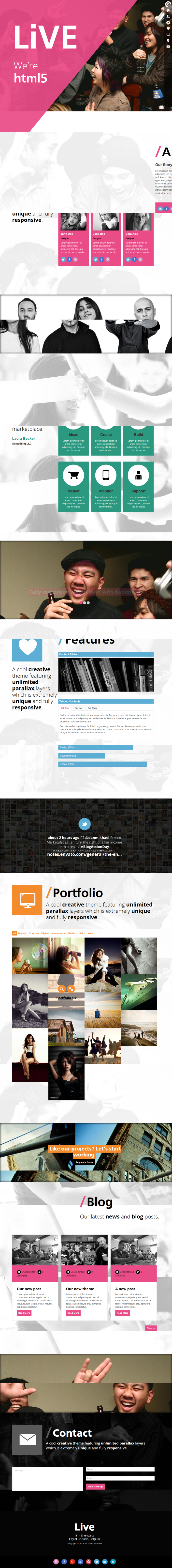 Live - one page wordpress theme
