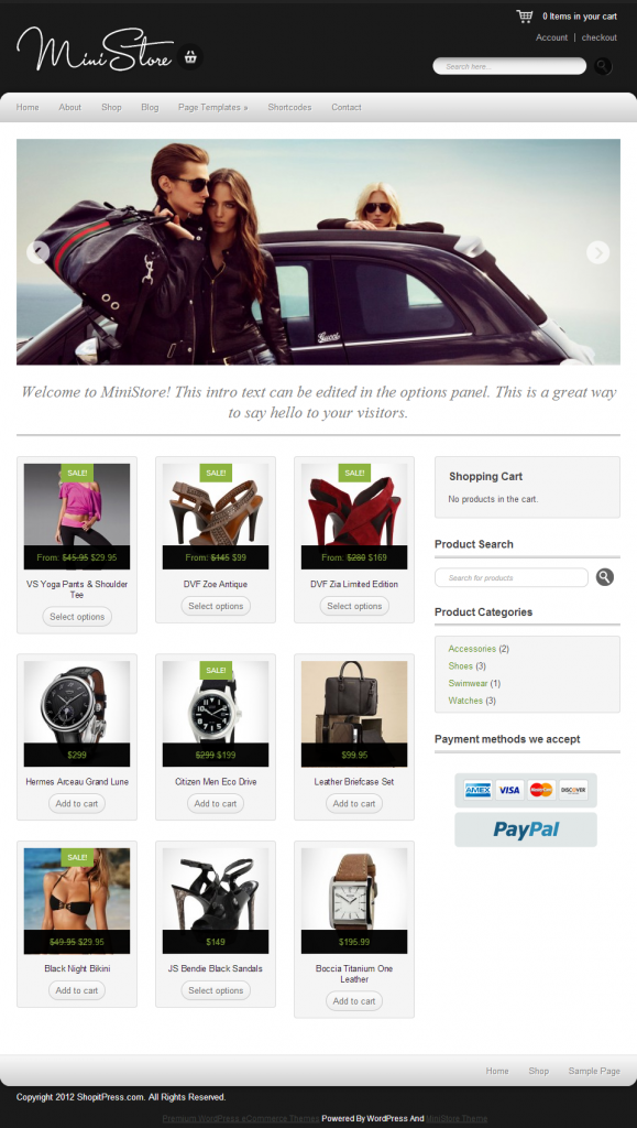 Ministore - premium wordpress eCommerce theme