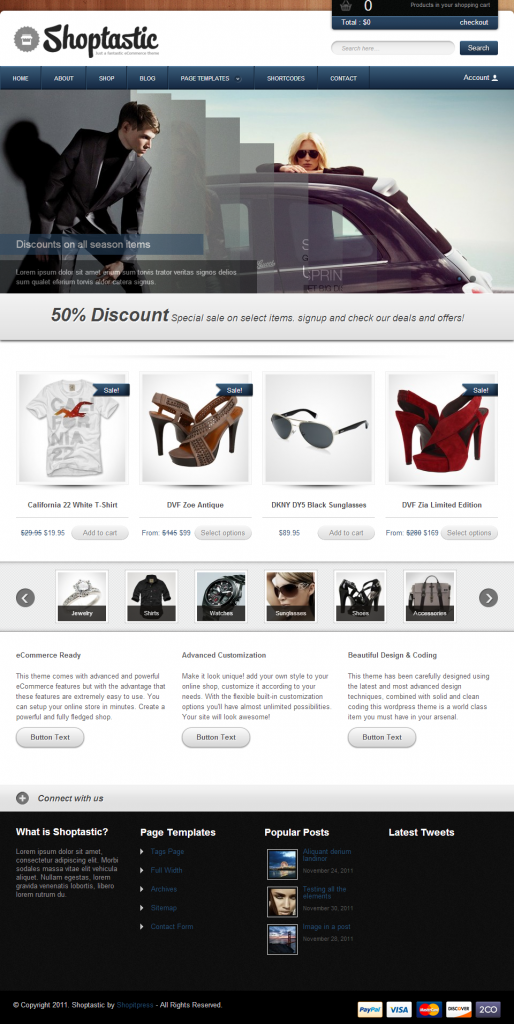 shoptastic - premium wordpress ecommerce theme