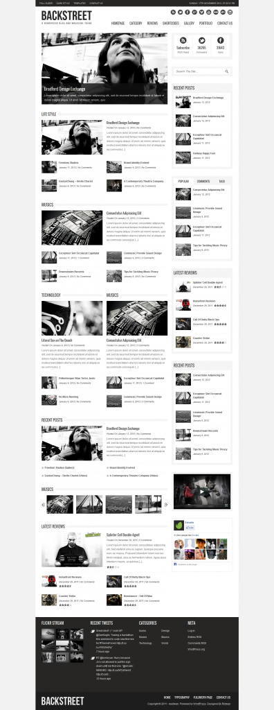 Backstreet: Blog and Magazine Theme