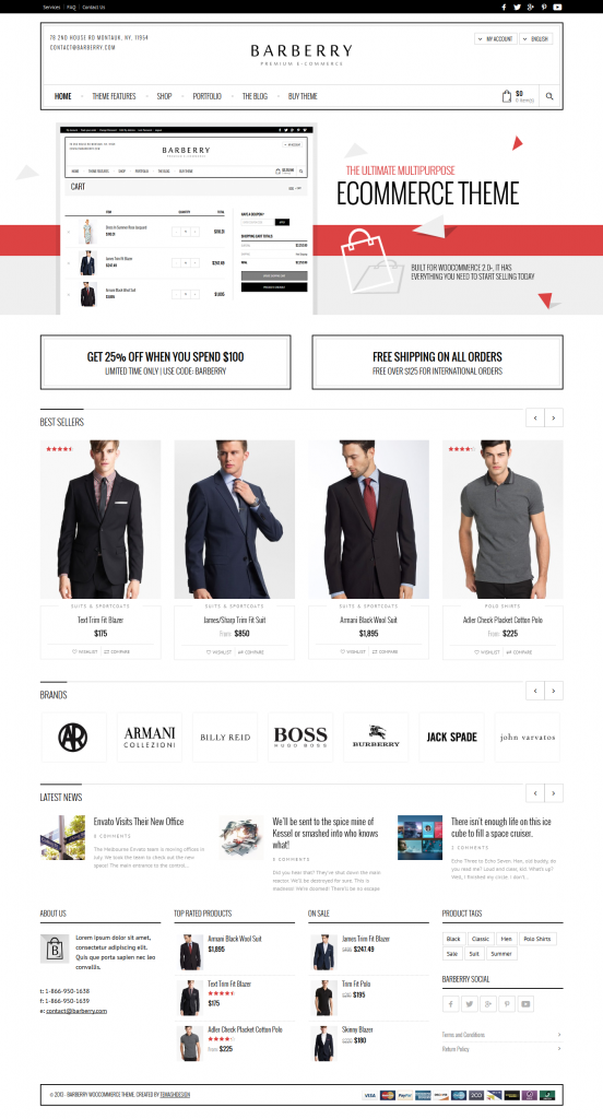 Barberry: Responsive WooCommerce Theme