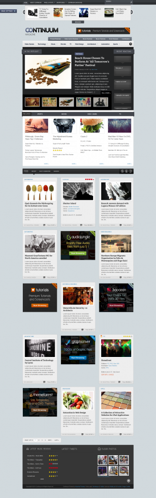 Continuum: Magazine and Blog WordPress Theme