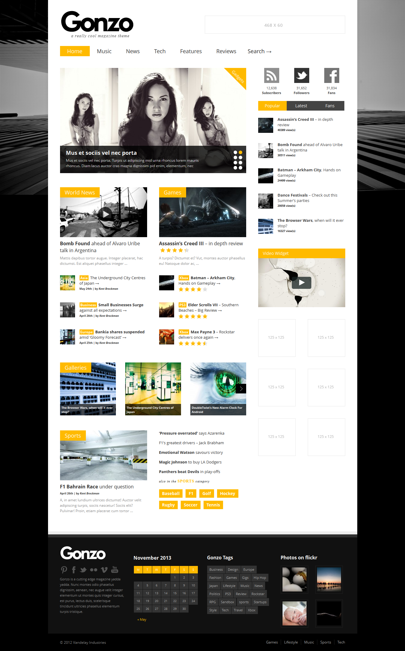 Gonzo - WordPress Magazine Theme
