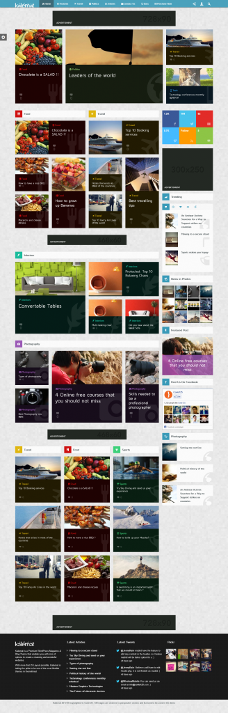 Kalemat: Retina Magazine WordPress Theme