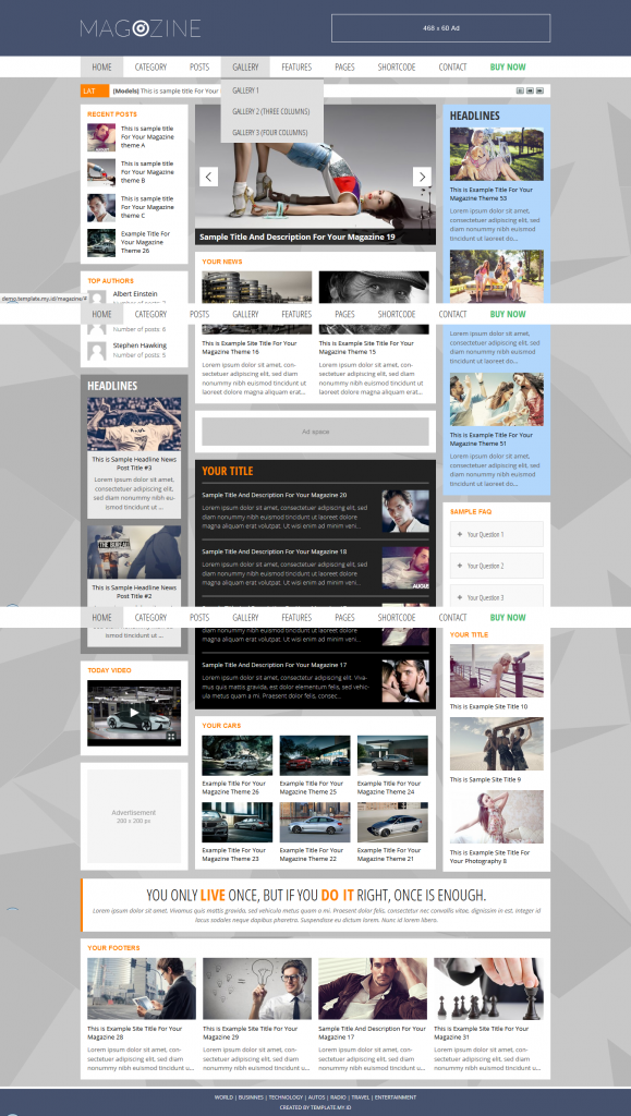 Magazine: WordPress Magazine Theme