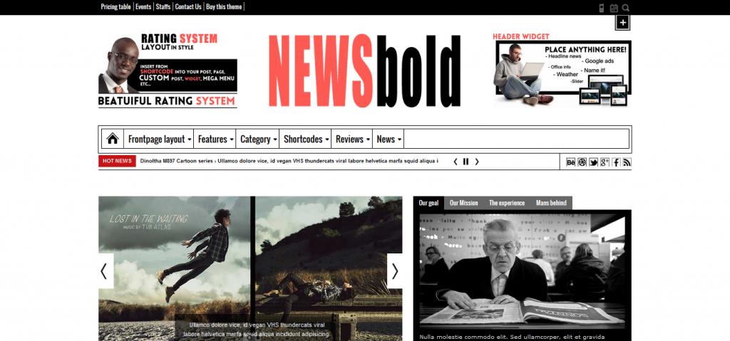 Newsbold: Bootstrap Multipurpose MagNewsBlog