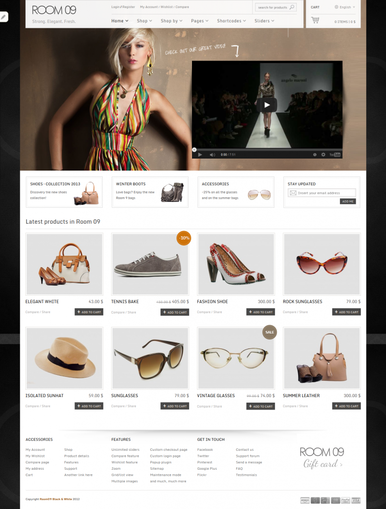 Room 09 Shop: Multi-Purpose e-Commerce Theme