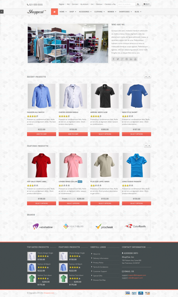 Shoppest: Responsive WooCommerce WordPress Theme
