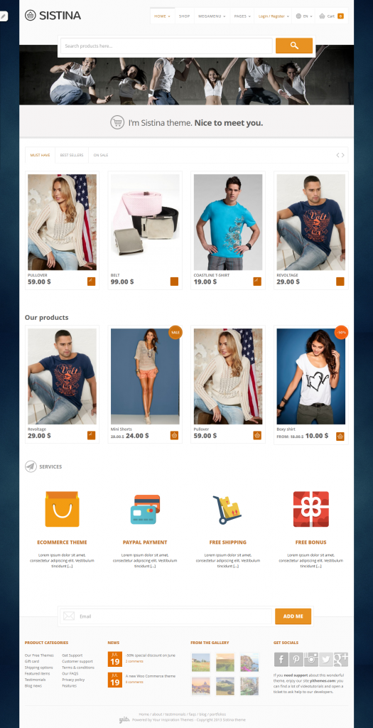 Sistina: Flat Multipurpose WooCommerce WordPressTheme