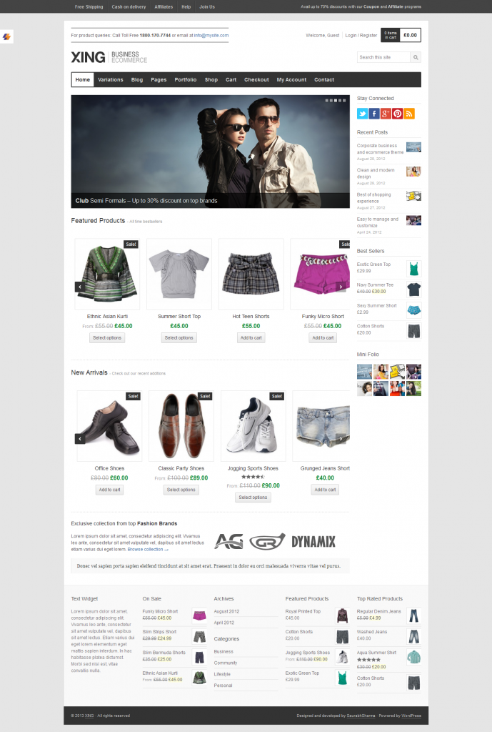Xing: WooCommerce WordPress Theme