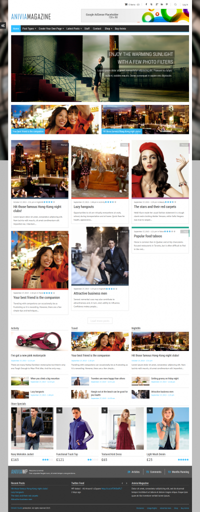 Anivia: News, Magazine, Blog WordPress Template