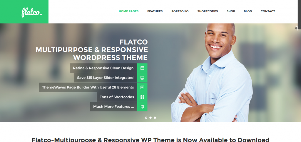 Flatco: Responsive Multipurpose One Page Theme