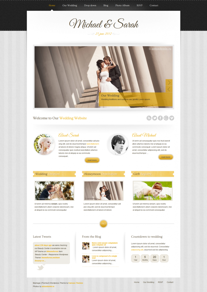 Marriage: Responsive Wedding WordPress Theme