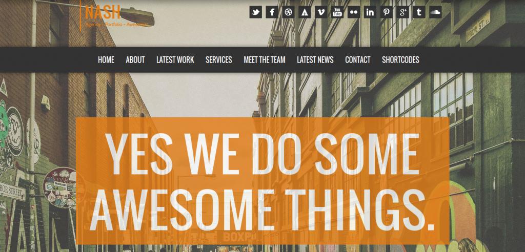 NASH: Responsive HTML5 One Page WordPress Theme