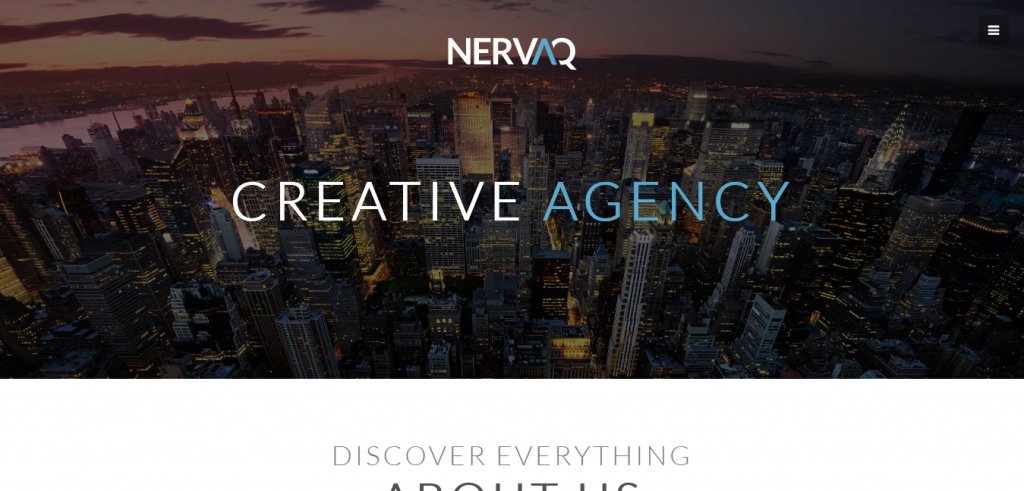 Nervaq: Responsive One Page WordPress Theme