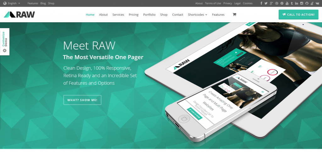 RAW: One and Multi Page Multipurpose Theme