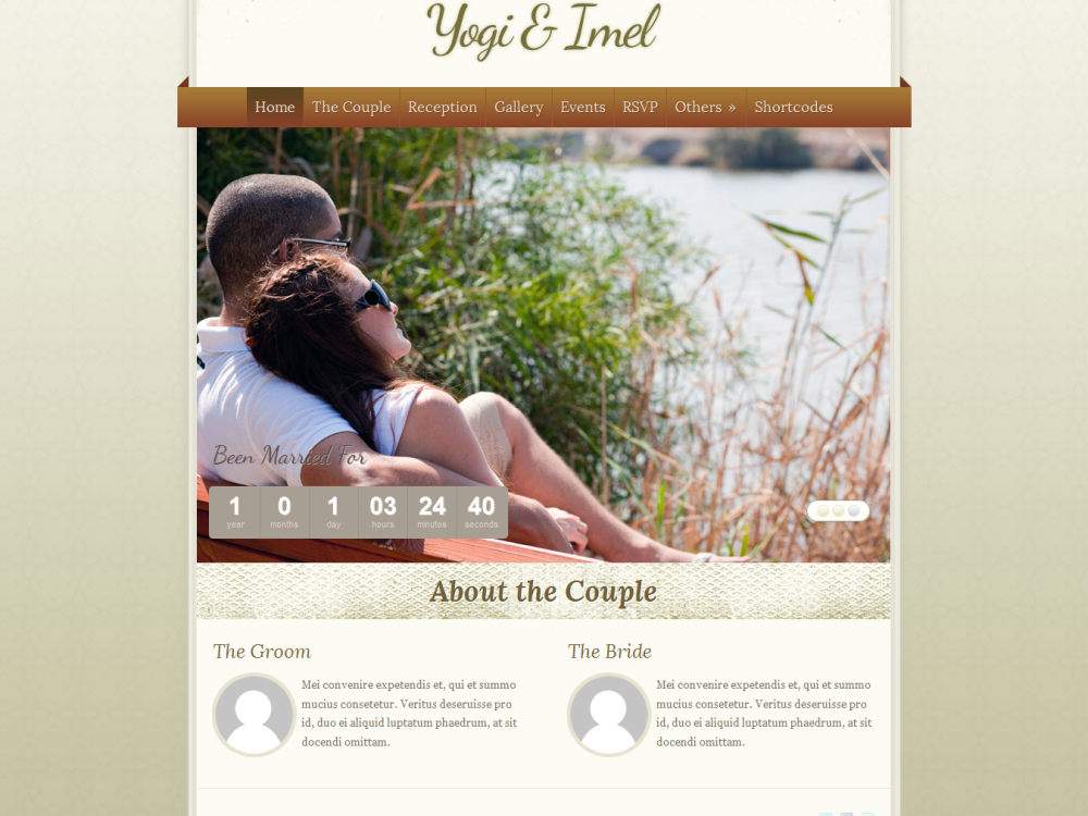 The Wedding: Elegant Wedding WordPress Theme