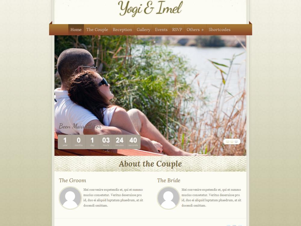 The Wedding: Elegant Wedding WordPress Theme