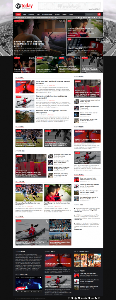 Today: Info News and Magazine WordPress Theme