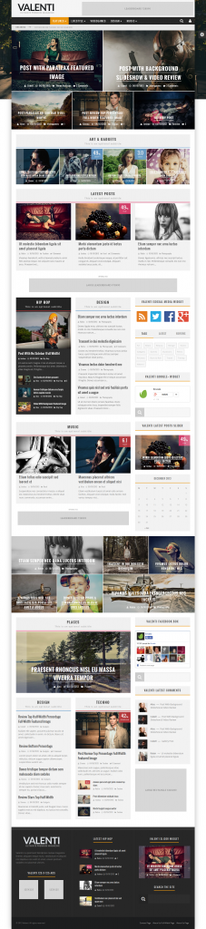Valenti: WordPress HD Review Magazine News Theme