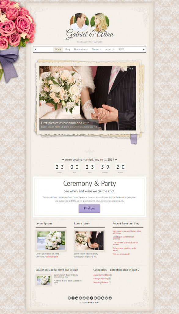 Vintage: Wedding Theme
