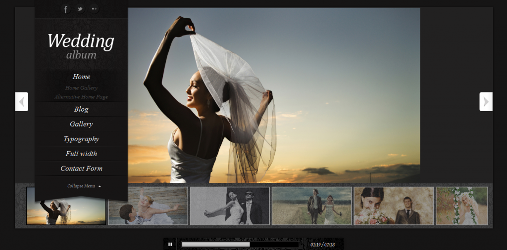 Wedding Album: Premium WordPress Theme