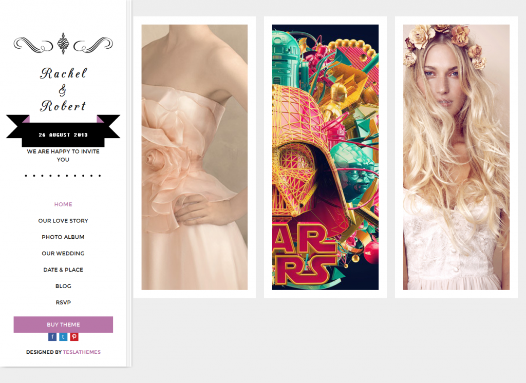 Wedding Day: Responsive WordPress Theme