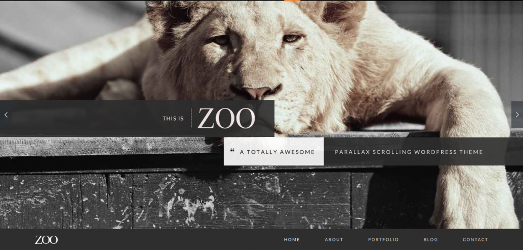 Zoo: Responsive One Page Parallax Theme