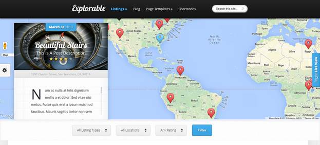 Explorable WordPress Theme