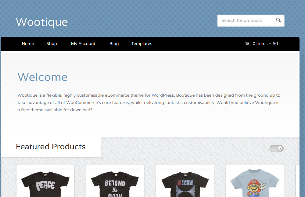 Wootique: Free eCommerce WordPress Theme