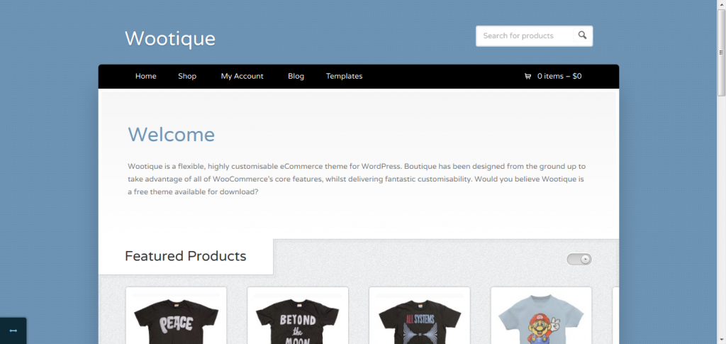 Wootique: Free eCommerce WordPress Theme
