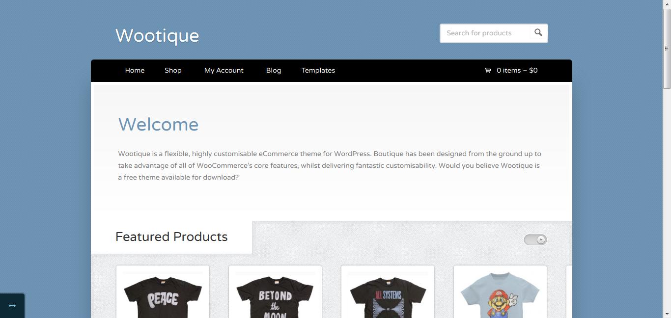 Wootique - Free eCommerce WordPress Theme