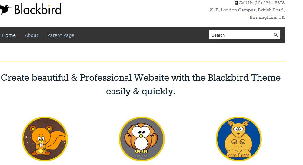 Blackbird: Free Blog WordPress Theme