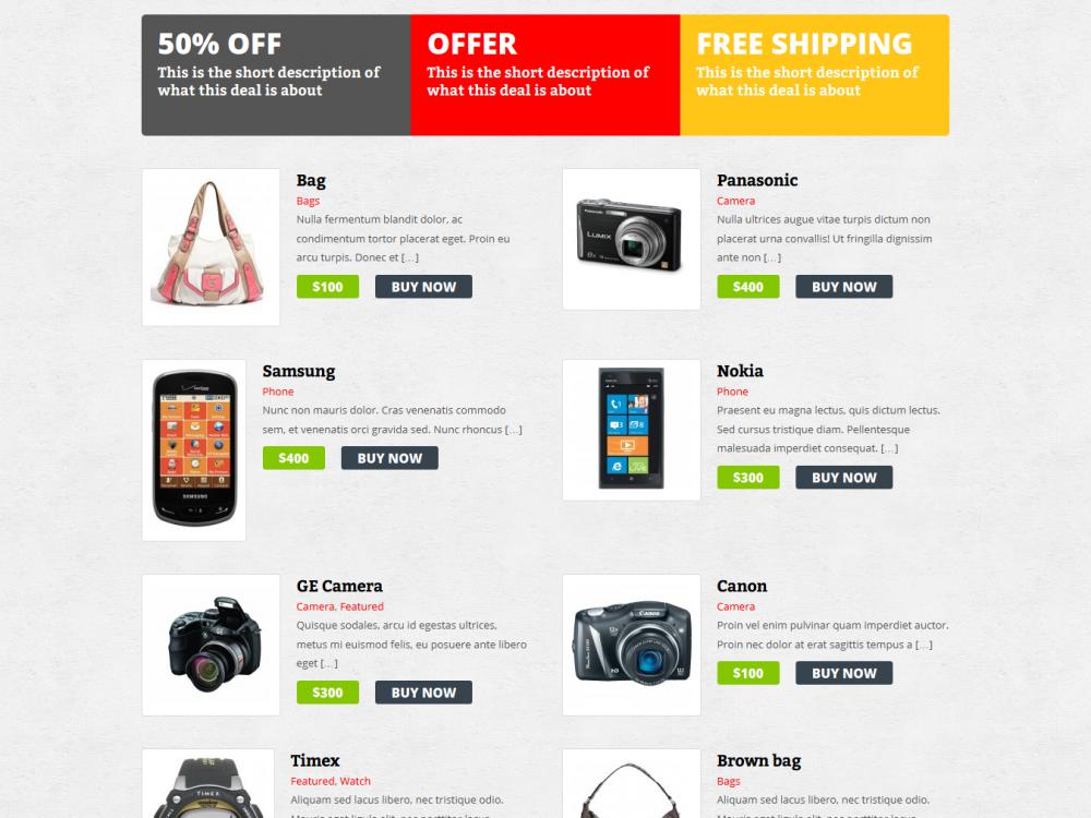 Xenastore: Free eCommerce WordPress Theme