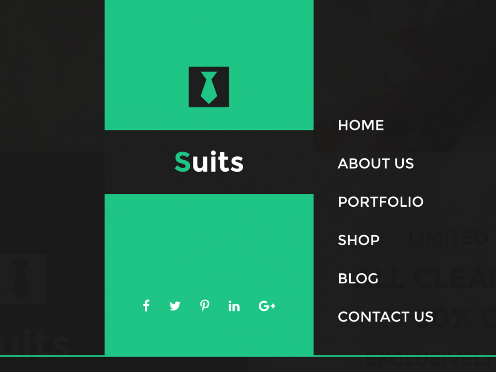 Suits - Fashion Shop And Portfolio HTML Template