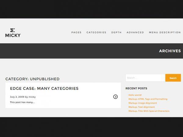 Micky - Responsive WordPress Blogging Theme