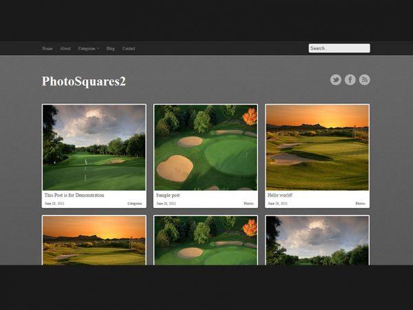 PhotoSquares - WordPress Photo Gallery Theme