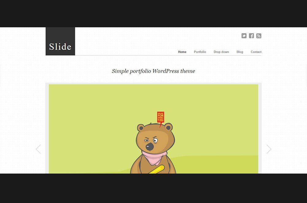Slide - WordPress Slideshow Portfolio Theme