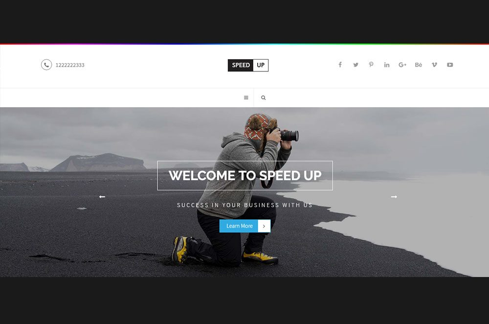 Speedup - WordPress Theme for Your Business Profile